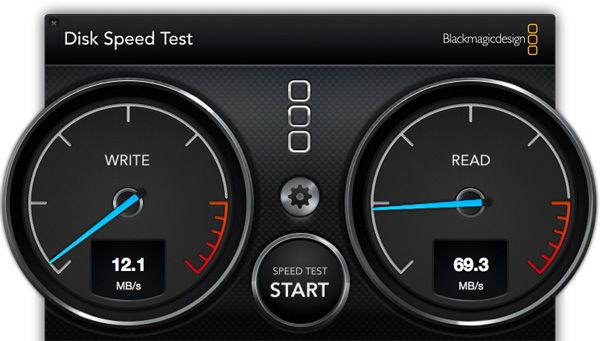 Disk Speed Test - Kingston SD10VG2 16 Go SDHC UHS-I U1