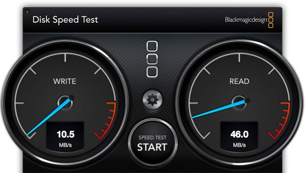 Disk Speed Test - Kingston SD10VG2 32 Go SDHC UHS-I U1