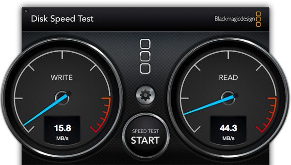 Disk Speed Test - Kingston SD10VG2 64 Go SDXC UHS-I U1