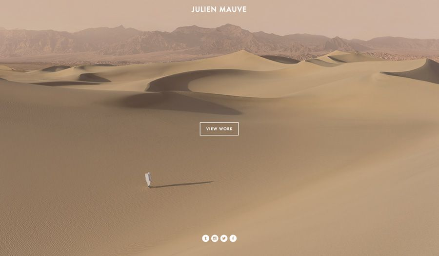 Home page site de Julien Mauve