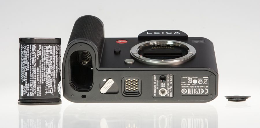 Leicas SL test review vue batterie