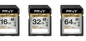 Cartes SD PNY Elite Performance UHS-I U3