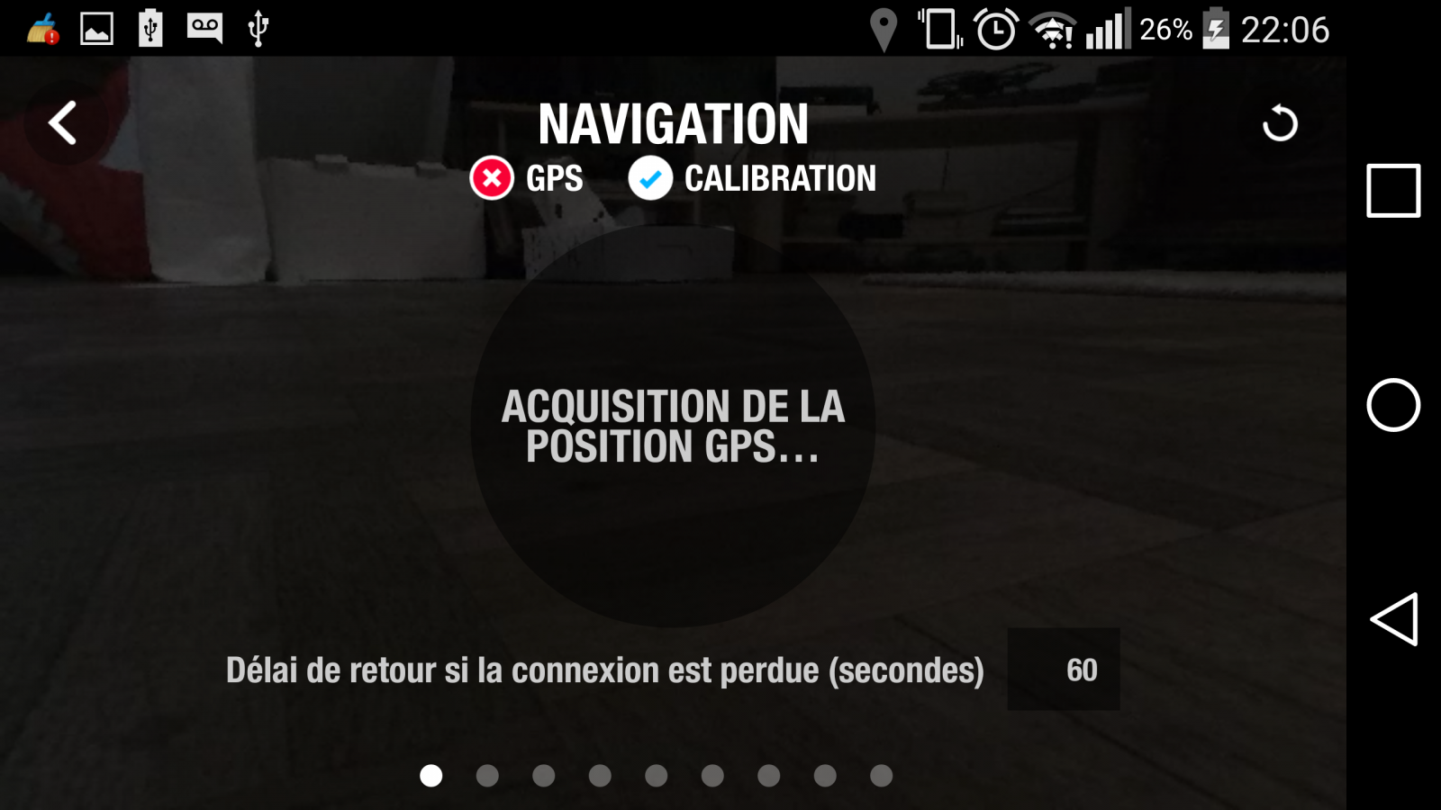 Drone Parrot Bebop 2, test review, app Freeflight 3, interface pilotage, écran 1, navigation