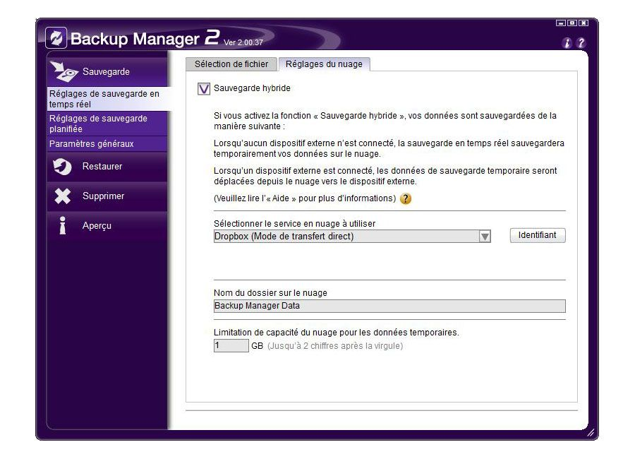 Sony Backup Manager 2