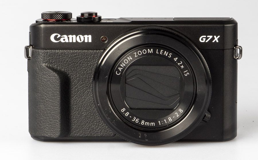 Canon G7 X Mark II test review vue de face