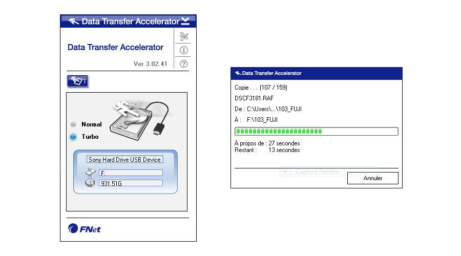 Sony Data Transfer Accelerator