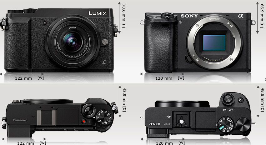 hybride Panasonic GX80 test review comparaison dimensions