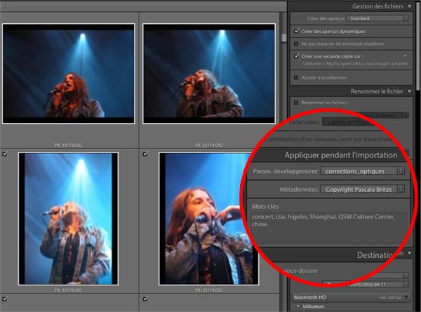 importation lightroom