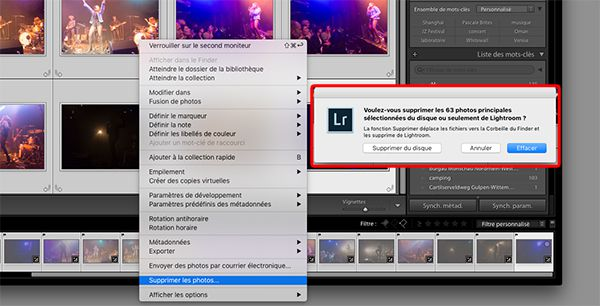 photos rejetées dans lightroom