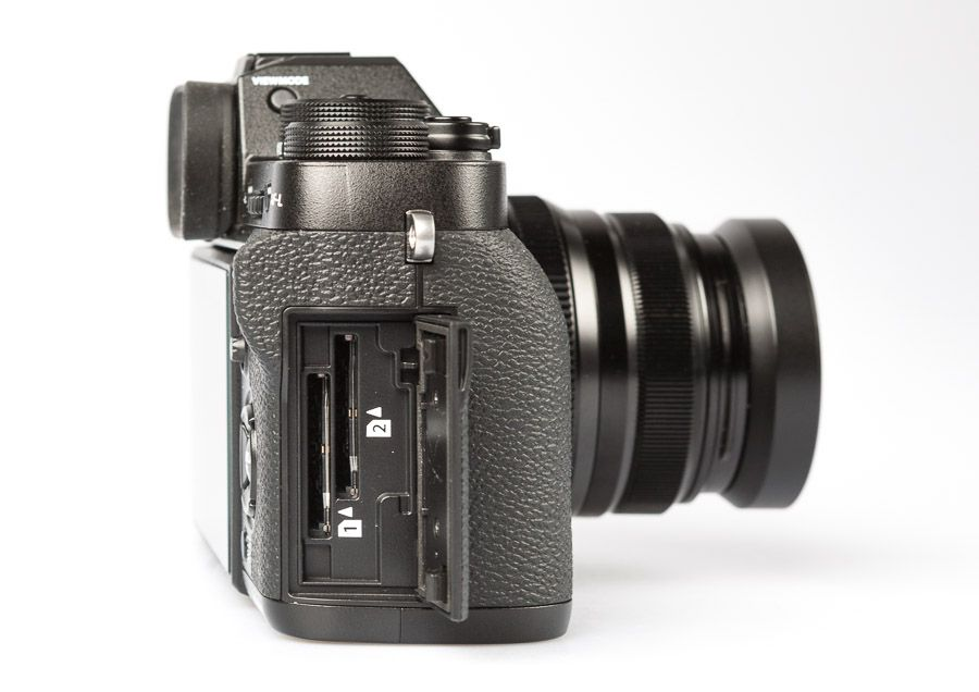 Fujifilm X-T2 hybride test review stockage carte mémoire