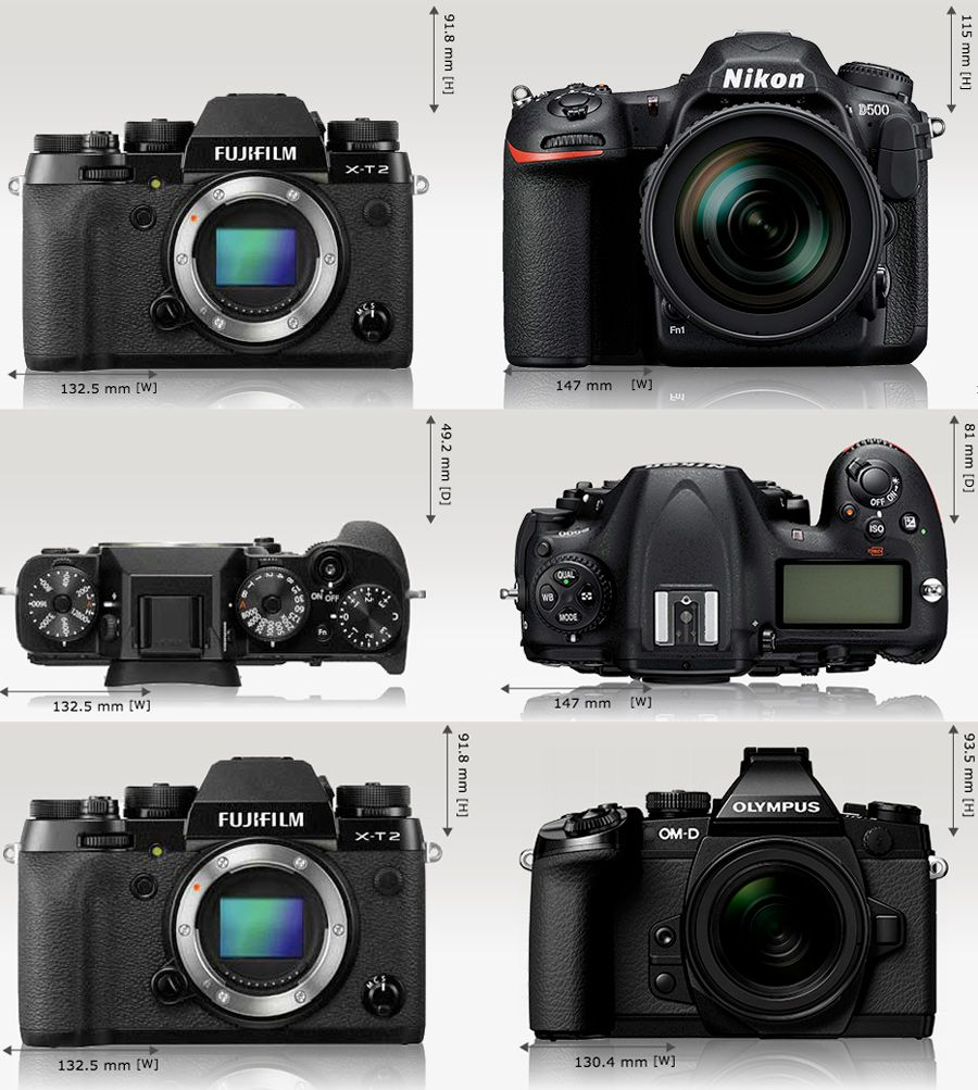 Fujifilm X-T2 test review comparaison dimensions