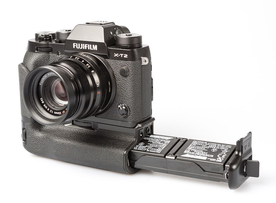 Fujifilm X-T2 hybride test review poignée alimentation et batteries VPB-XT2