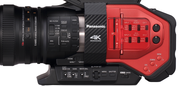 Panasonic DVX200 test review détail commandes