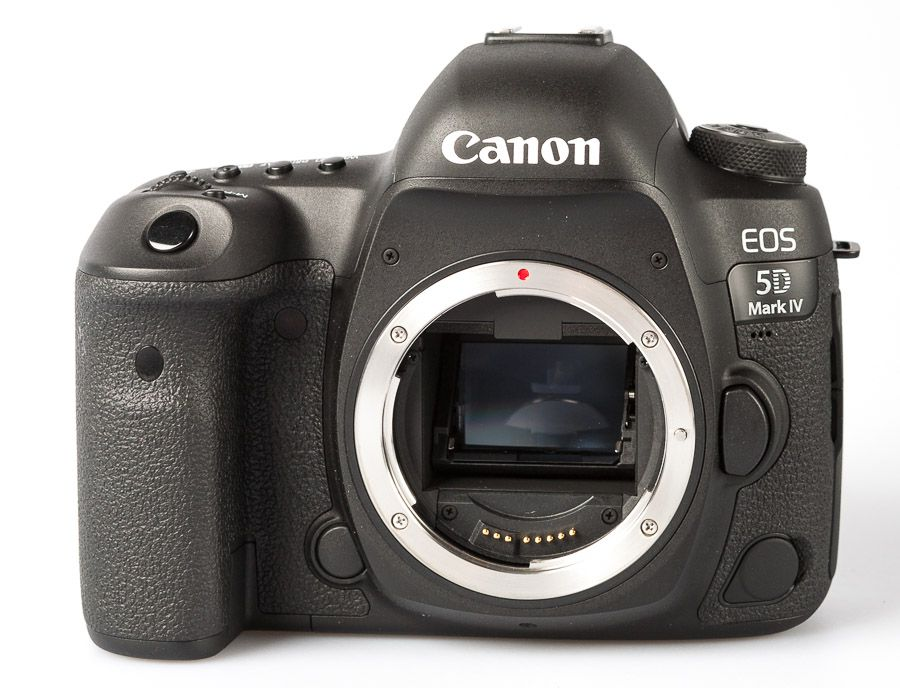 Canon EOS 5D Mark IV test review prise en main, vue de face