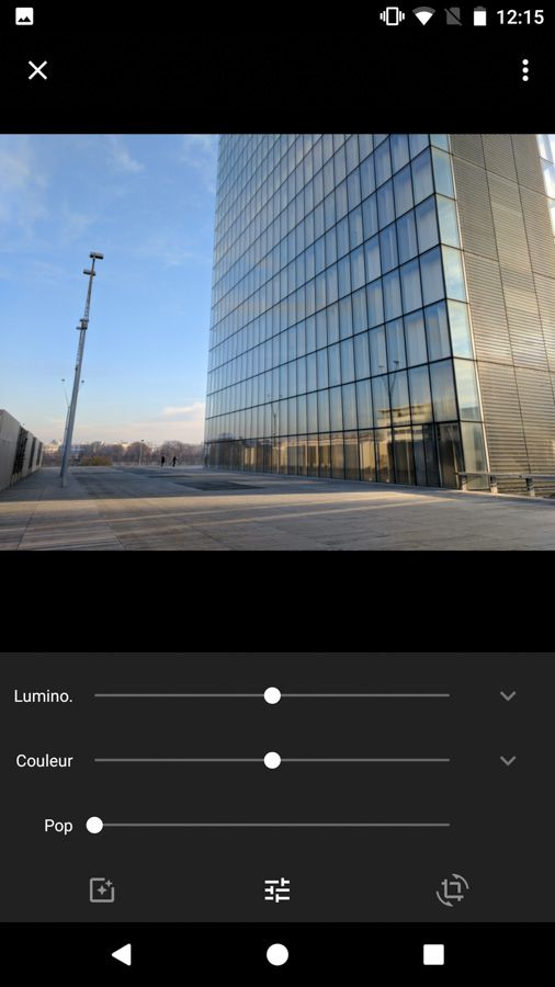 Test smartphone Google Pixel interface retouche