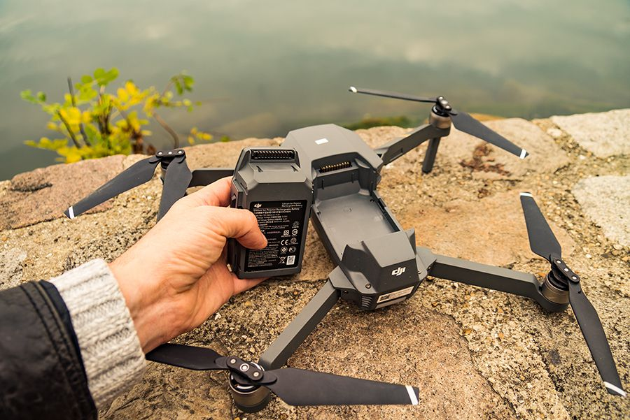 DJI Mavic Pro test review detail de la batterie