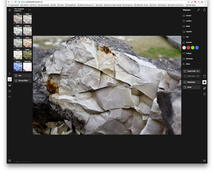 Polarr photo editor raw navigateur