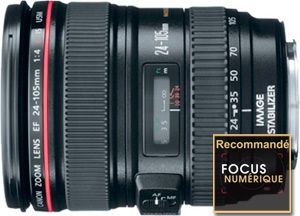 Canon EF 24-105 mm F/4 L IS USM recommande