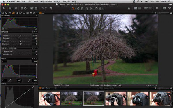 Capture One de Phase One disponible en version 4, ici les histogrammes