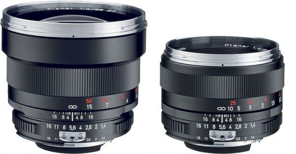 Carl Zeiss Planar T* 50 mm f/1,4 et 85 mm f/1,4