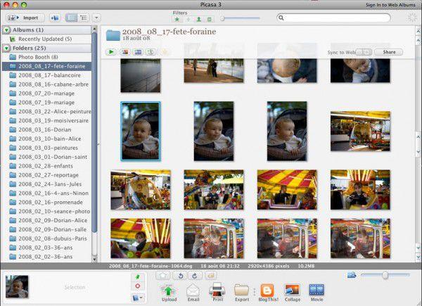 Une bêta de plus chez Google : Picasa pour Mac OS X