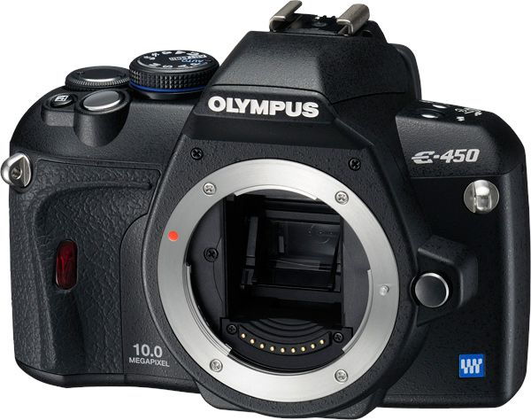 Olympus E-450 ouvert