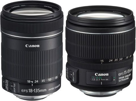 EF-S 18-135 mm f/3,5-5,6 IS et le EF-S 15-85 mm f/3,5-5,6 IS USM