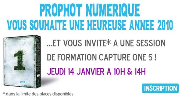 formation capture one pro 5 chez prophot