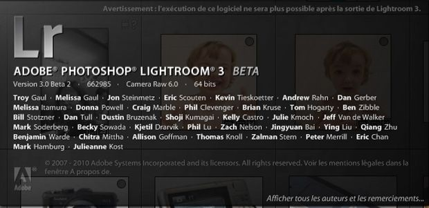 Adobe Lightroom 3 bêta 2