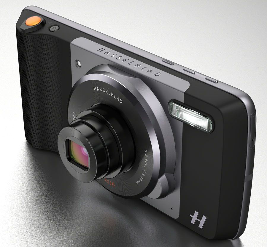 Module photo Hasselblad True Zoom et smartphone Lenovo Moto Z