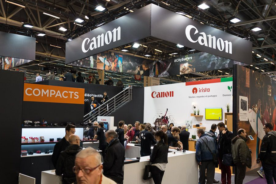 Stand Canon au salon de la photo