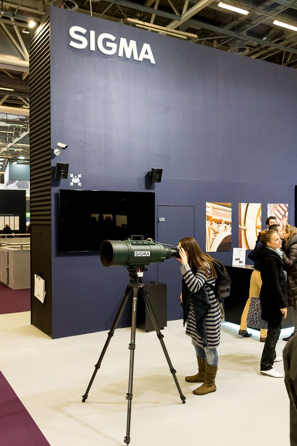 stand Sigma au salon de la photo 2016