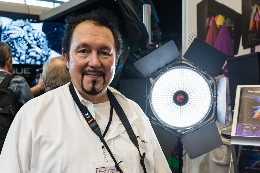 Rod Aaron Gammons, directeur de Rotolight, au Salon de la Photo 2016