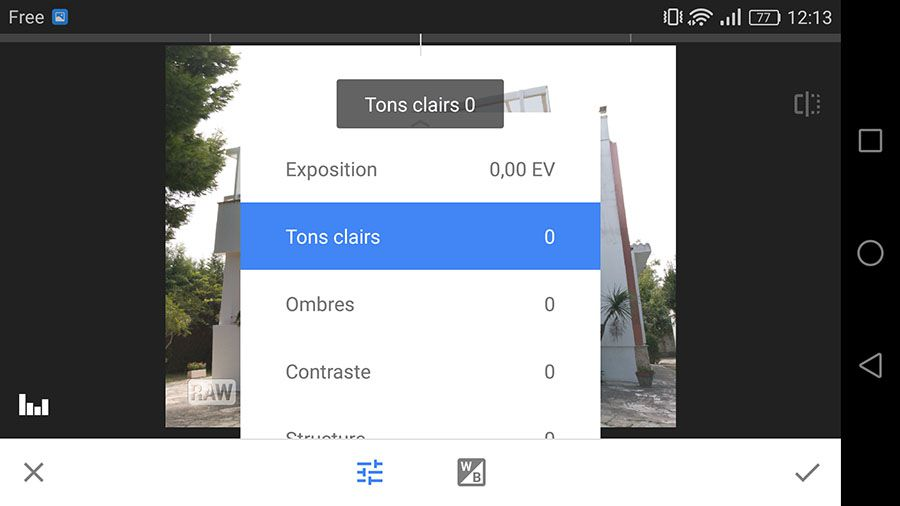 Snapseed 2.13 prise en main interface