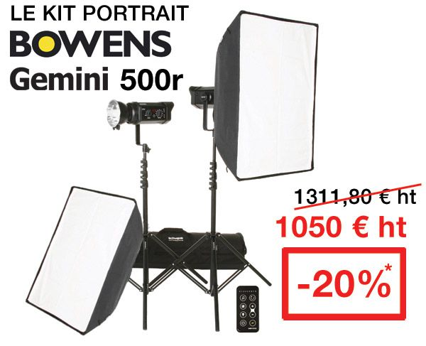 Kit flash bowen gemini 500w solde