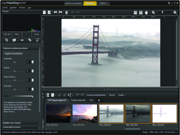 Corel PaintShop Pro X4 interface