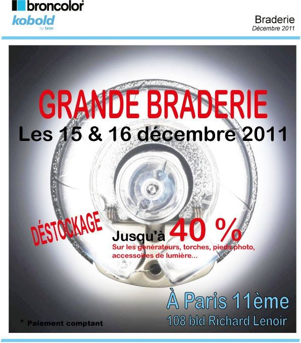 Broncolor braderie 40% réduction