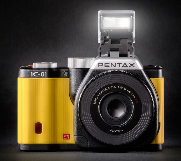 Pentax K-01 en version jaune...