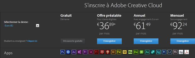 Adobe Cloud avec Lightroom