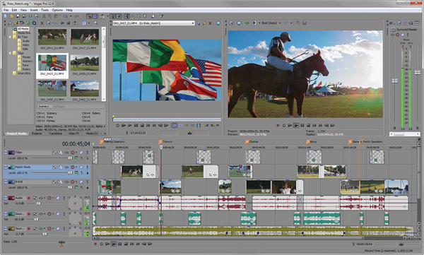 Sony Vegas Pro 12 interface