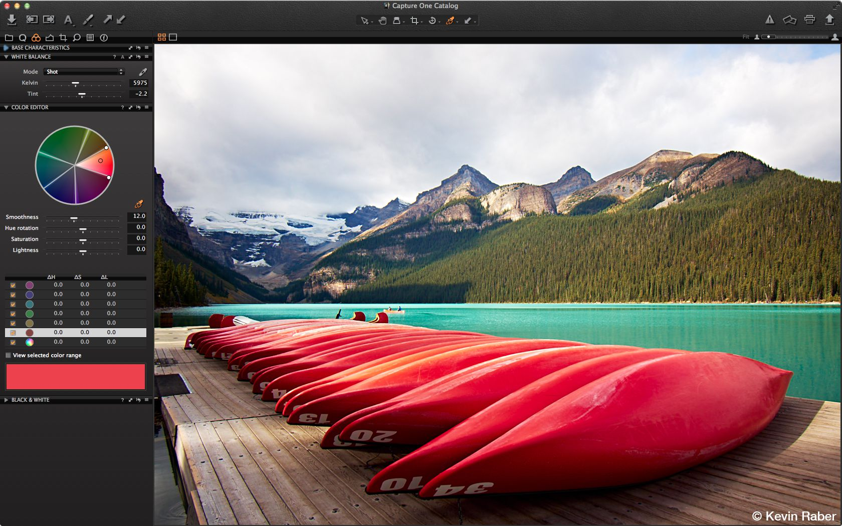 Capture One 7 Express interface
