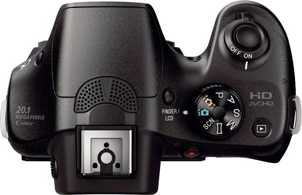 Sony A3000 dessus