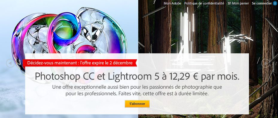 Photoshop CC + lightroom dans le cloud d'Adobe