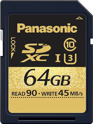 Carte Panasonic SD UHS Speed Class 3
