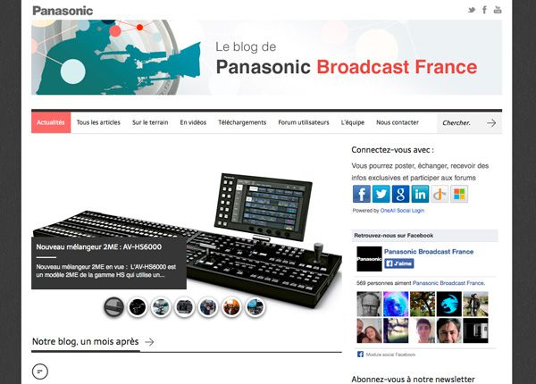Le blog de Panasonic Broadcast