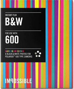 Impossible Instant Film B & W Hard-Color Edition, Black and white photos for Polaroid 600 type cameras
