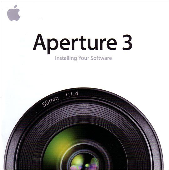 Visuel Apple Aperture, installation