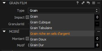 Capture One Pro 8, capture d'écran, ajout de grain