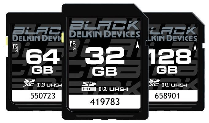 Cartes mémoire SD Black Delkin Devices de Delkin