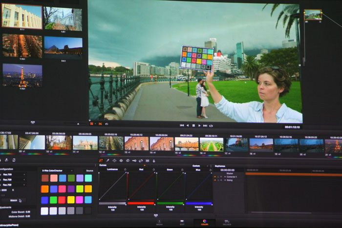 Blackmagic Design, DaVinci Resolve 11, capture d'écran